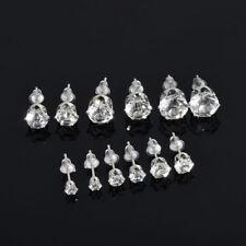 Chic Women Stylish Jewelry Silver CZ Crystal Rhinestone Ear Stud Earrings 6 Pair