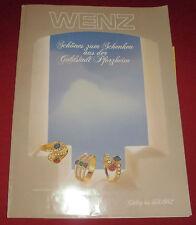 dachbodenfund alter versandhaus katalog wenz pforzheim 1982 schmuck u. geschenke