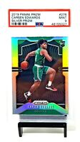2019 Prizm SILVER REFRACTOR Celtics CARSEN EDWARDS Rookie Basketball Card PSA 9
