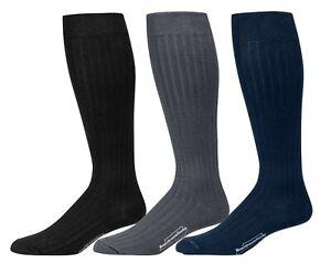 Boardroom Socks Men's Over the Calf Knee High Cotton Dress Socks Business Formal