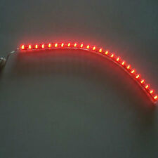 Car Auto Motorcycle 24CM LED Strip Flexible 12Volt Red Lights Lamp Bulb