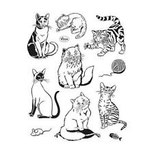 Viva Decor A5 Clear Silicone Stamps Set - Cats #140