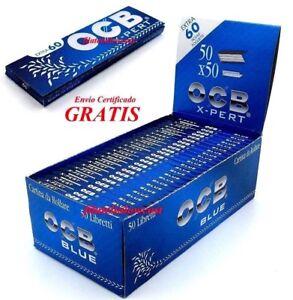 Papel De Fumar OCB Blue X Pert Rolling Paper Caja 50 Libritos De 60 Hojas Tabaco