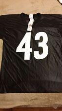 Black Steelers #43 POLAMALU NFL Team Apparel NEW -- Large