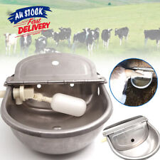 4L Drinking For Horse Auto Fill Dog Water Bowl Automatic Stainless Chicken ACB#