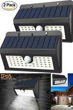 2X Solar 45LED Light Outdoor Garden Waterproof Wireless Security Motion Detector