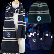 XMAS GIFTS Harry Potter Ravenclaw House Gift Wool Knit Scarf Hat Gloves 3PCS Set