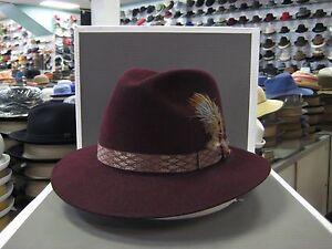 STETSON CARLSON FUR FELT FEDORA DRESS HAT