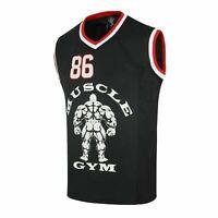 Men Gym Tank Shirt Muscle Sleeveless Tank Vest Top Bodybuilding Fitness Vest