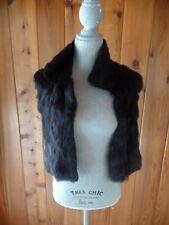 Theory Ethel B Rabbit Fur Vest Size M Brown