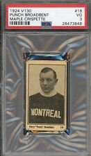 1924 V130 Maple Crispette #18  Punch Broadbent  TOUGH!!  HOF  NICE!!   PSA 3 !