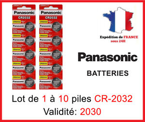 Piles Bouton CR-2032 Panasonic 3 Volt  DLC 2030