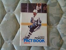 1978-79 PITTSBURGH PENGUINS MEDIA GUIDE YEARBOOK 1979 Fact Book NHL Program AD