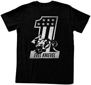 EVEL KNIEVEL American Classics Apparel Black One T-Shirt Lg