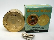Scrooge Mc Duck Clock Disney Mc Duck Safe Type Alarm Clock Retired Mint