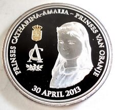 NETHERLANDS, PRINSES CATHARINA-AMALIA 2013 BU Proof Colored Medal 40mm 26g B8