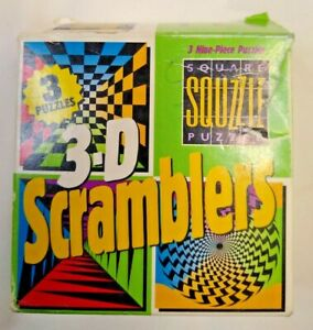 3-D Scramblers Puzzle  3 sets in box  New