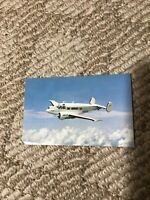 Vintage Unused Beechcraft Post Card Super H 18 Cruising Above The Clouds