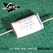 Luxe 1958-1961 Phone Book: Wax Impregnated Paper & Foil .1mF Capacitor