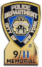 9/11 MEMORIAL PIN Police Department City of New York SEPTEMBER 11, 2001 911 NYPD