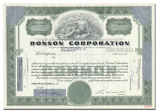 Ronson Corporation Stock Certificate (Cigarette Lighters)