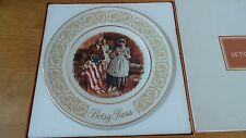 "1973 Avon Betsy Ross 9"" Plate with Box by Enoch Wedgwood. England"