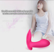 Women Invisible Wearable Private Toys Wireless Remote Control Vibrator in Panty