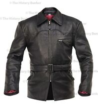 WW1 German motorcyclists leather coat BLACK - made to order