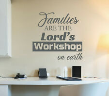 Vinyl Wall Decal Family God Religion Quote Stickers 22.5 in x 21 in Grey gz316