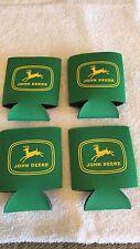 4 John Deere Koozies Huggies Can Holder Old Logo Green 2-sided X-mas special