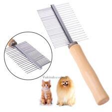 Wood Handle Double Sided Pet Comb Dog Cat Hair Rake Comb Pet Grooming Hair brush
