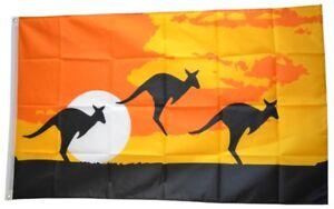 Fahne Känguru Landschaft Flagge  Hissflagge 90x150cm