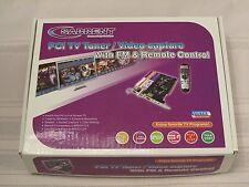 Sabrent TV Tuner/Video Capture/DVR/DVD Maker PCI Card with Remote Control