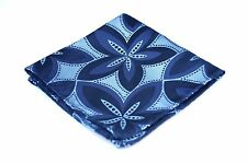 Lord R Colton Masterworks Pocket Square - Navy Pearl Drones - Silk $75 New