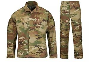 NEW ARMY ACU COMBAT UNIFORM SET SCORPION OCP PATTERN JACKET & PANTS 50/50 NYCO