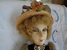 Poupée ancienne de salon 1920 old doll boudoir