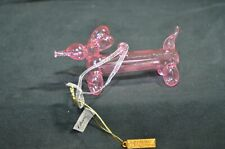 Katherine Collection Christmas Tree Ornament - Pink Bubble Glass Weiner Dog
