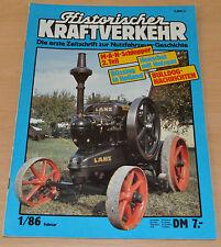 Historischer Kraftverkehr HIK 1/86 MAN Schlepper Büssing Henschel Lanz- Bulldog
