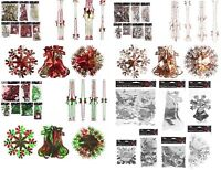 Xmas Hanging Ceiling,Wall Decoration Foil Garland,Bell,Ball,SnowFlake Decor