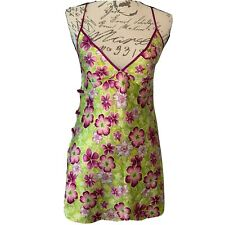 VICTORIA'S SECRET CHEMISES SLIP GOWN SMALL FLORAL SATIN ASIAN SEXY