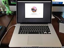 "Apple MacBook Pro 15"" Retina Core i7 2.6Ghz 16GB RAM 500GB SSD A1398"