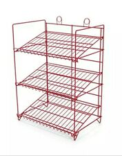 Counter Gum, Candy and Snack Display Rack - 3 Shelf (Red)
