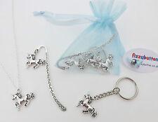 Unicorn party gift bag -  necklace key ring mini bookmark birthday bag filler