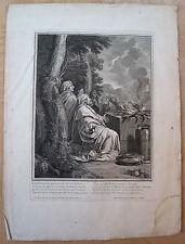 Eau-forte, Elie et les prophètes de Baal, Desplaces d'après Le Brun, début XVIII