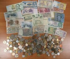 More details for job lot of foreign and domestic coins and notes 1kg [1303]
