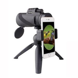 Powerful 12x50 Zoom lens Monocular Telescope | iPhone Samsung Adaptor | Tripod