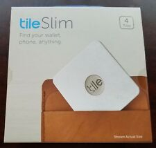 Tile Slim Bluetooth Tracker Phone Wallet Anything Finder 4-Pack Factory Sealed