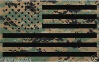 "USA Military Camouflage Camo flag decal 4"" vinyl sticker Army Marines"