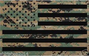 "USA Military Camouflage Camo flag decal 4"" vinyl sticker Army Marines"