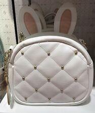 NEW Disney Parks Alice in Wonderland White Rabbit Purse Crossbody Bag with Ears